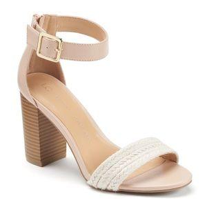 Lauren Conrad   Braided Block Heels